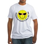 Silly Smiley #44 Fitted T-Shirt