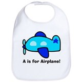 Airplane Cotton Bibs
