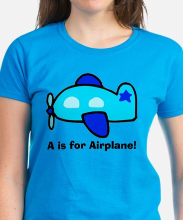A is for Airplane! Women's Dark T-Shirt