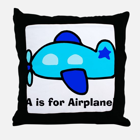 A is for Airplane! Throw Pillow