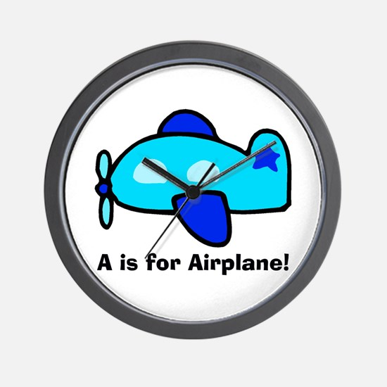 A is for Airplane! Wall Clock