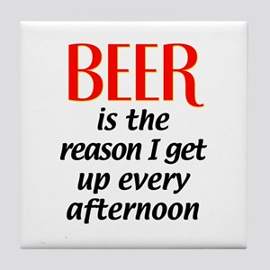 Beer is the Reason Tile Coaster