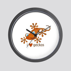 ..::i {heart} geckos::.. Wall Clock