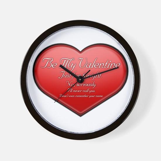 One Night Valentine Wall Clock