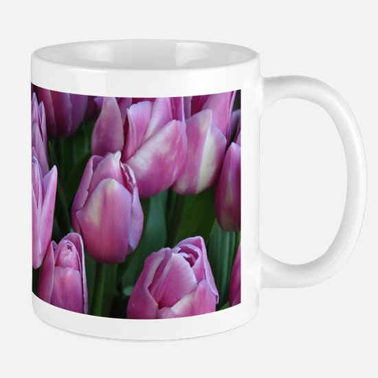 Purple spring tulips Mugs