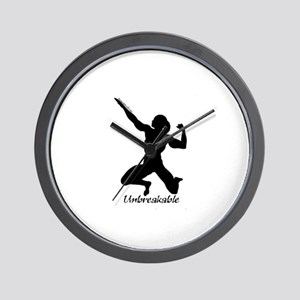 Invincible Will Bodybuilding Wall Clock