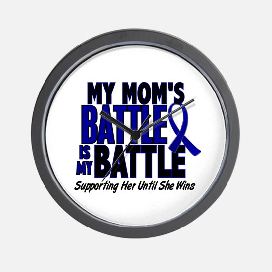 My Battle Too 1 BLUE (Mom) Wall Clock