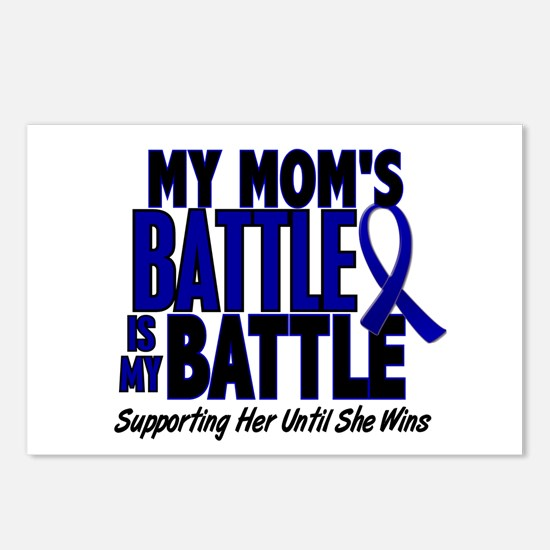 My Battle Too 1 BLUE (Mom) Postcards (Package of 8