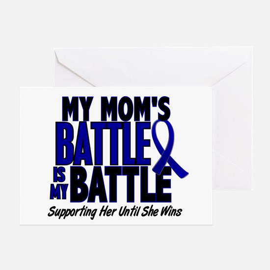 My Battle Too 1 BLUE (Mom) Greeting Card