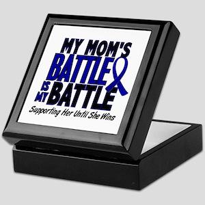 My Battle Too 1 BLUE (Mom) Keepsake Box
