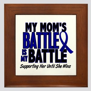 My Battle Too 1 BLUE (Mom) Framed Tile