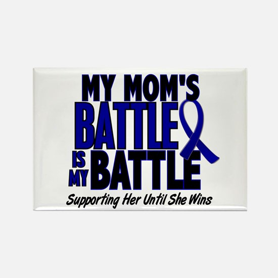 My Battle Too 1 BLUE (Mom) Rectangle Magnet (10 pa