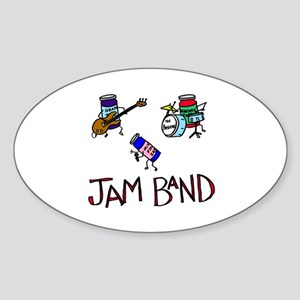 Jam Band Oval Sticker