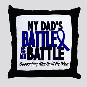 My Battle Too 1 BLUE (Dad) Throw Pillow