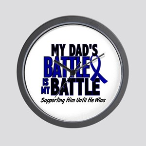 My Battle Too 1 BLUE (Dad) Wall Clock