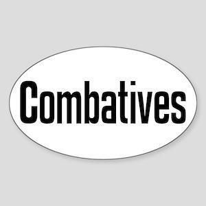 """Combatives"" Oval Sticker"
