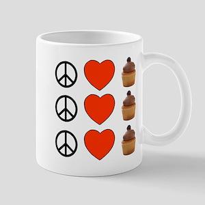 Peace Love & Cupcakes Mug