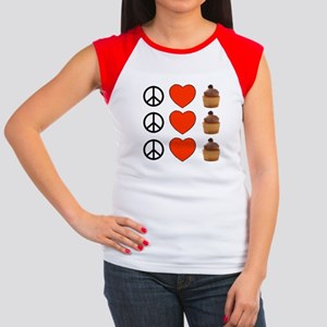 Peace Love & Cupcakes Women's Cap Sleeve T-Shirt