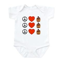 Peace Love & Cupcakes Infant Bodysuit