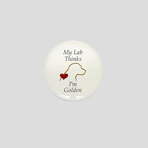 My (Golden) Lab... Mini Button