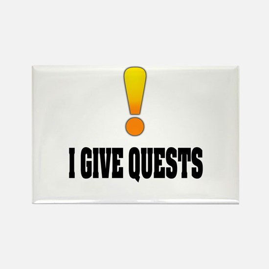 I Give Quests Rectangle Magnet