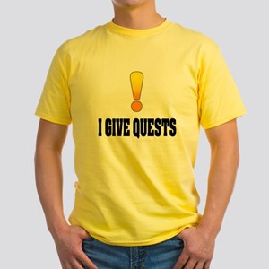 I Give Quests Yellow T-Shirt