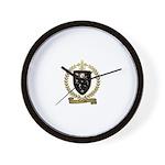 LEFRANC Family Crest Wall Clock