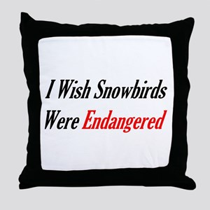Snowbirds Endangered Throw Pillow