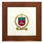 LECLAIR Family Crest Framed Tile