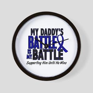 My Battle Too 1 BLUE (Daddy) Wall Clock