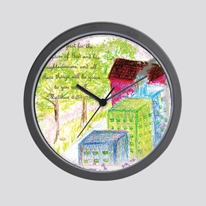 Seek ye first the Kingdom Wall Clock