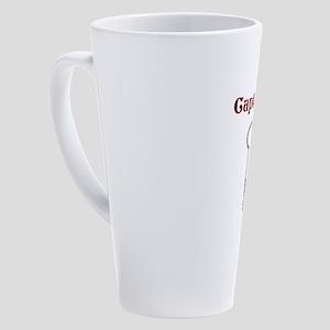 Captain Cook Pirate Skeleton 17 oz Latte Mug