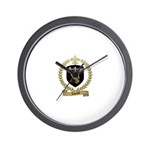 LAVACHE Family Crest Wall Clock