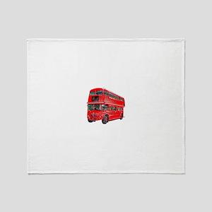 Red London Bus Throw Blanket