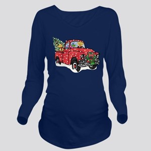 Yellow Lab Christmas Long Sleeve Maternity T-Shirt