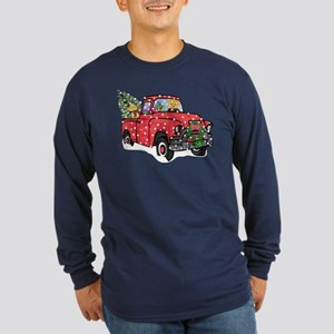 Yellow Lab Christmas Red Long Sleeve Dark T-Shirt