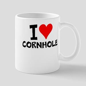 I Love Cornhole Mugs