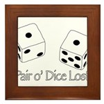 Pair O' Dice Lost Framed Tile