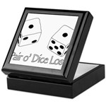 Pair O' Dice Lost Keepsake Box