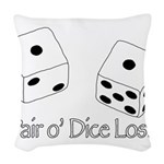 Pair O' Dice Lost Woven Throw Pillow