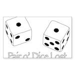 Pair O' Dice Lost Sticker