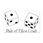 Pair O' Dice Lost Wall Decal
