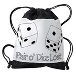 Pair O' Dice Lost Drawstring Bag