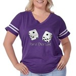 Pair O' Dice Lost Women's Plus Size Football T