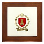 LASALLE Family Crest Framed Tile