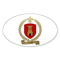 LASALLE Family Crest Oval Decal