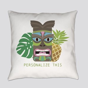 Tiki Tribal Mask Personalized Everyday Pillow