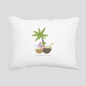 Cocktails and Palm Tree Personalized Rectangular C