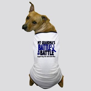 My Battle Too 1 BLUE (Grandma) Dog T-Shirt
