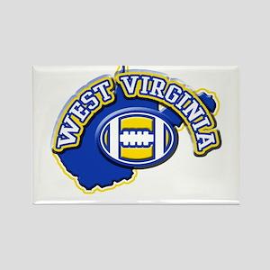 West Virginia Football Rectangle Magnet